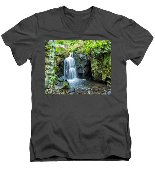 Men's V-Neck T-Shirt featuring the photograph Lumsdale Falls by Nick Bywater