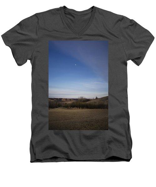 Lumsden Moon Rising Men's V-Neck T-Shirt by Ellery Russell