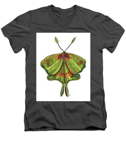 Luna Moth Men's V-Neck T-Shirt
