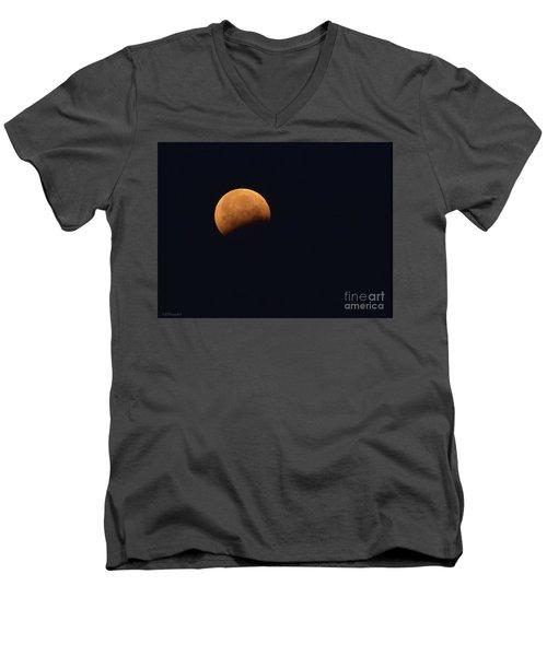 Lunar Blood Moon Eclipse Men's V-Neck T-Shirt