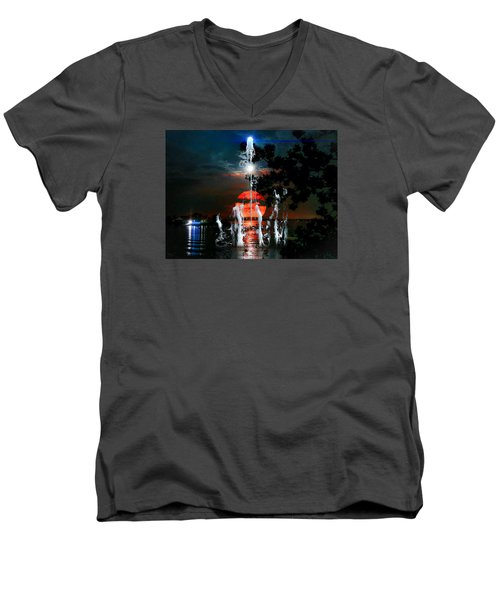 Lunar Event Horizon Men's V-Neck T-Shirt by Glenn Feron