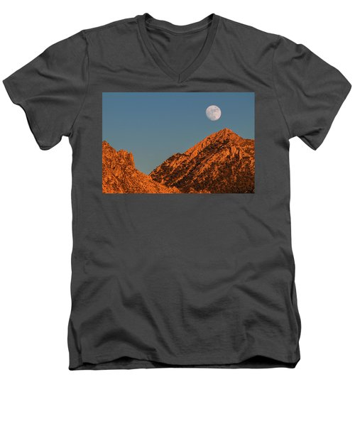 Lunar Sunset Men's V-Neck T-Shirt