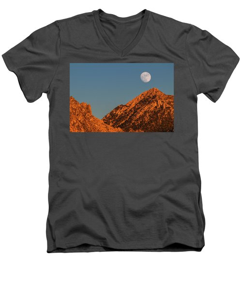 Lunar Sunset Men's V-Neck T-Shirt