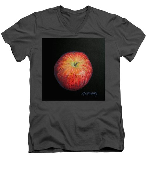 Lunch Apple Men's V-Neck T-Shirt by Marna Edwards Flavell