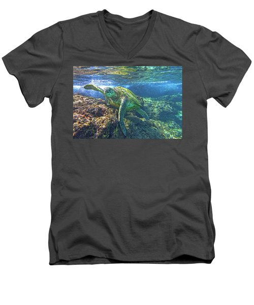 Lunch Time Men's V-Neck T-Shirt by James Roemmling