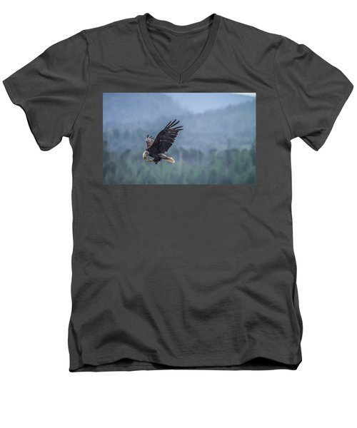 Men's V-Neck T-Shirt featuring the photograph Lunch To Go by Timothy Latta