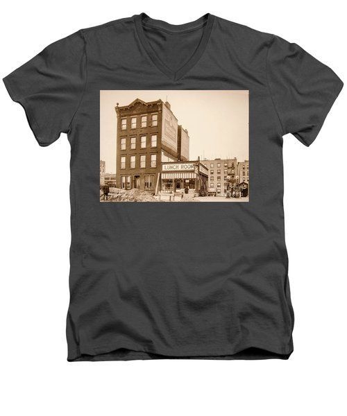 Men's V-Neck T-Shirt featuring the photograph Lunchroom  by Cole Thompson