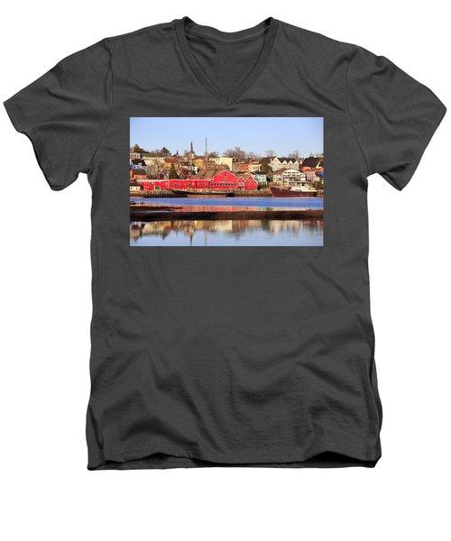 Lunenburg, Nova Scotia Men's V-Neck T-Shirt
