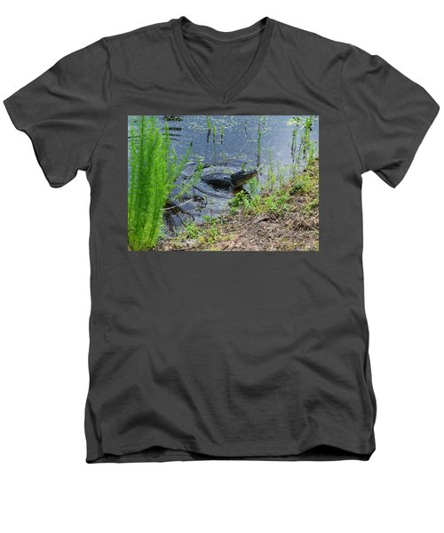 Lunging Bull Gator Men's V-Neck T-Shirt