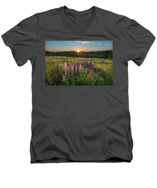 Lupine Sunrise Men's V-Neck T-Shirt