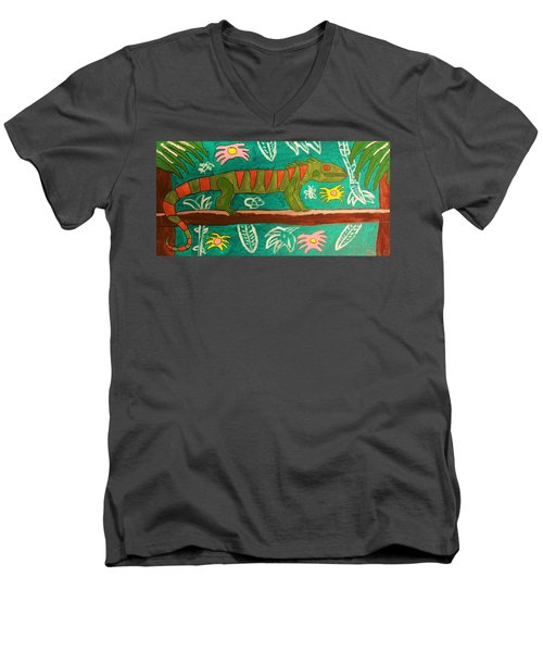Lurking Iguana Men's V-Neck T-Shirt