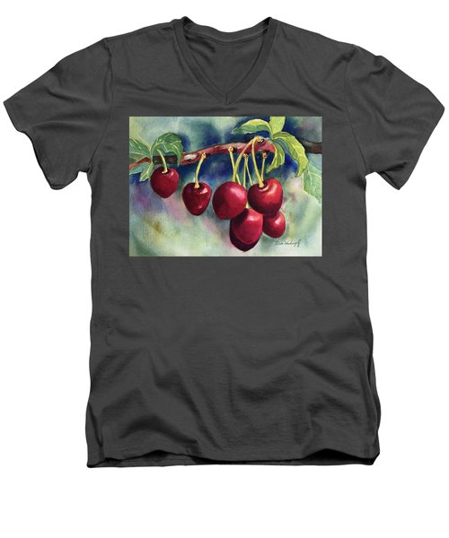 Luscious Cherries Men's V-Neck T-Shirt
