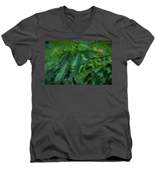 Lush Foliage Men's V-Neck T-Shirt by Stefanie Silva