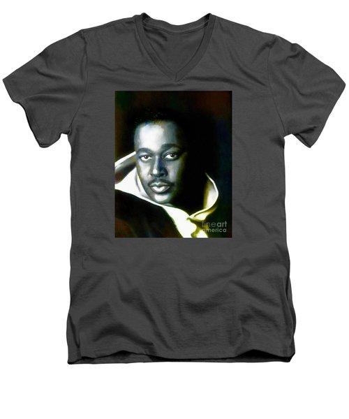 Luther Vandross - Singer  Men's V-Neck T-Shirt