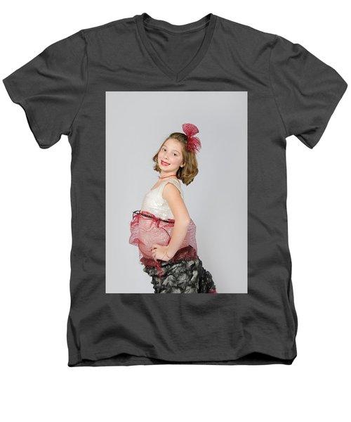 Lydia In Wraps Men's V-Neck T-Shirt