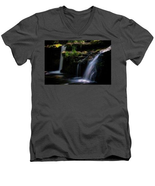 Lynn Mill Waterfalls Men's V-Neck T-Shirt