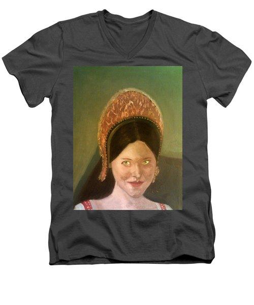 Lynne Frederick As Queen Katherine Howard Men's V-Neck T-Shirt