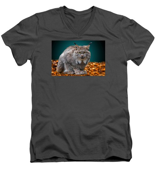 Lynx Men's V-Neck T-Shirt