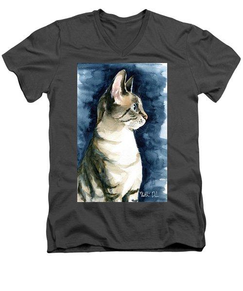 Lynx Point Cat Portrait Men's V-Neck T-Shirt
