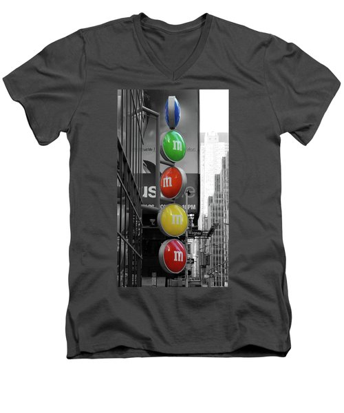 M And Ms In New York City Men's V-Neck T-Shirt