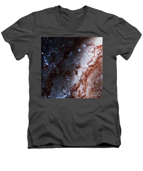 M51 Hubble Legacy Archive Men's V-Neck T-Shirt