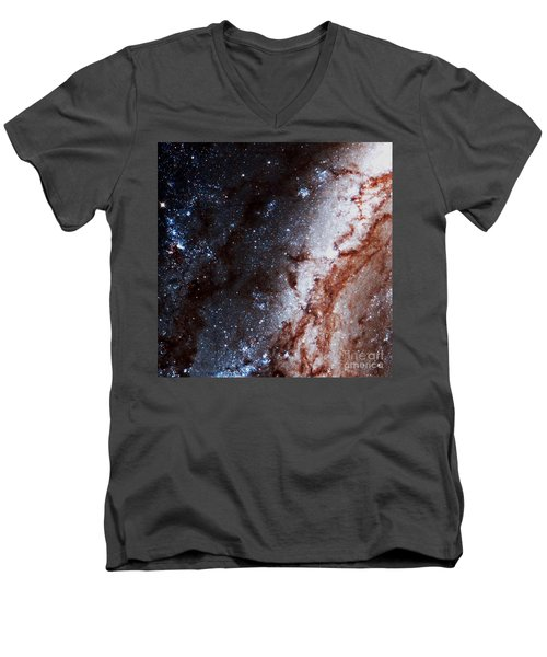 M51 Hubble Legacy Archive Men's V-Neck T-Shirt