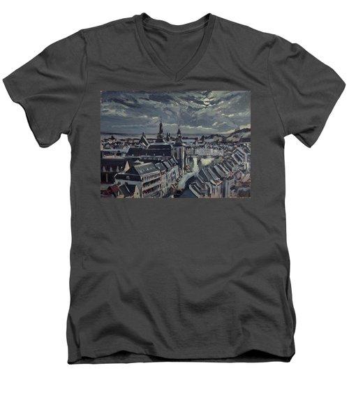 Maastricht By Moon Light Men's V-Neck T-Shirt