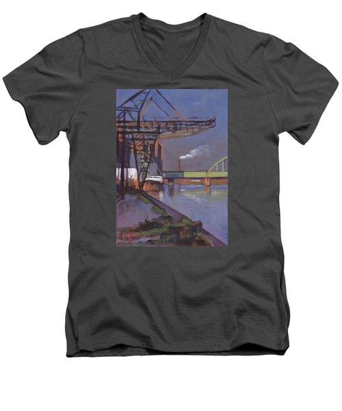 Maastricht Industry Men's V-Neck T-Shirt by Nop Briex