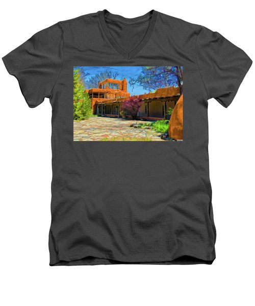 Mabel's Courtyard As Oil Men's V-Neck T-Shirt