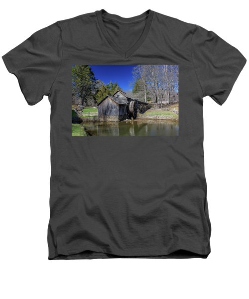 Mabry Mill Late Fall Men's V-Neck T-Shirt