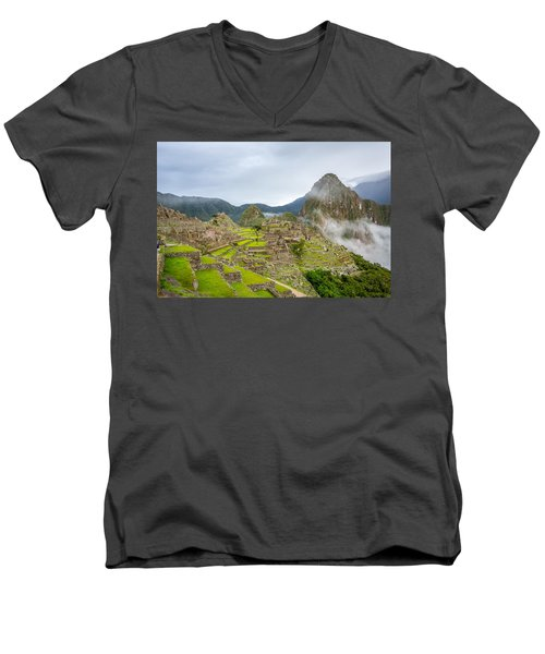 Machu Picchu. Men's V-Neck T-Shirt