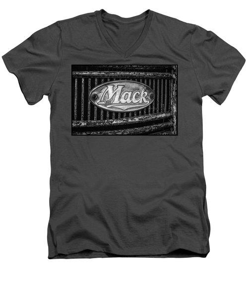 Mack Truck Emblem Men's V-Neck T-Shirt