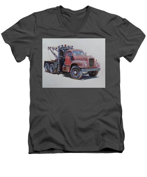 Mack Wrecker. Men's V-Neck T-Shirt