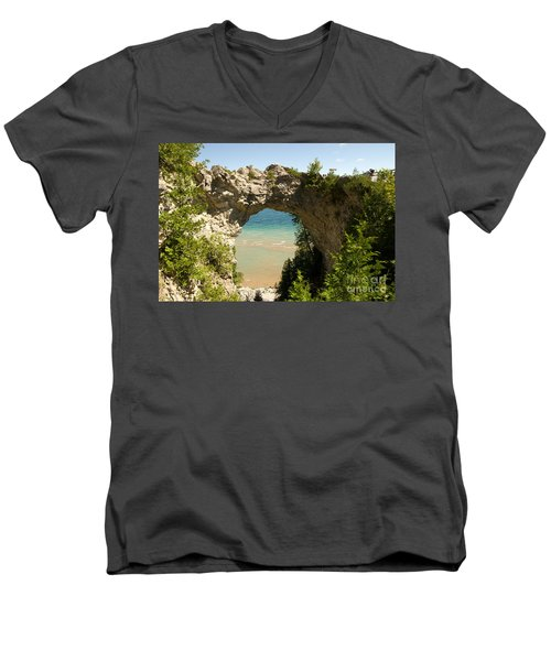 Mackinac Island Arch Men's V-Neck T-Shirt