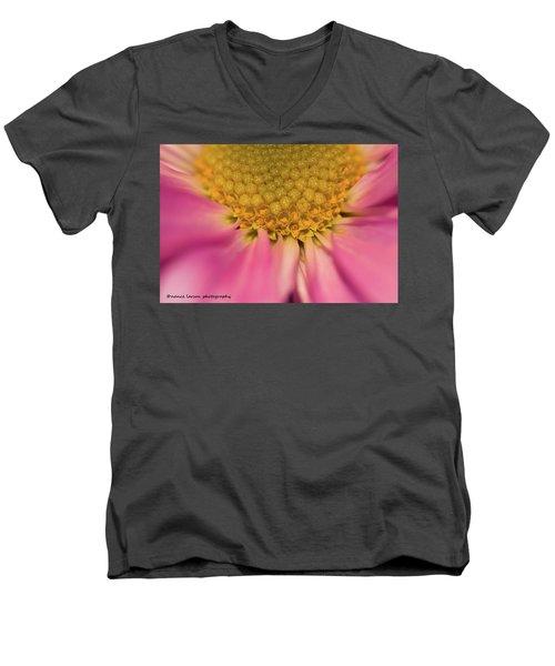 Macro Daisy Men's V-Neck T-Shirt by Nance Larson