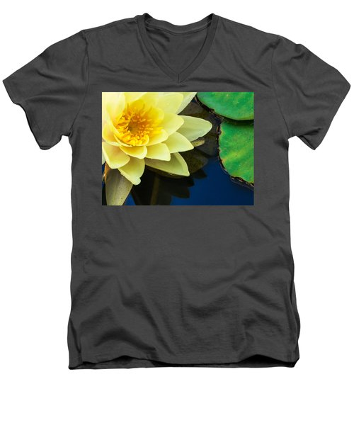Macro Image Of Yellow Water Lilly Men's V-Neck T-Shirt