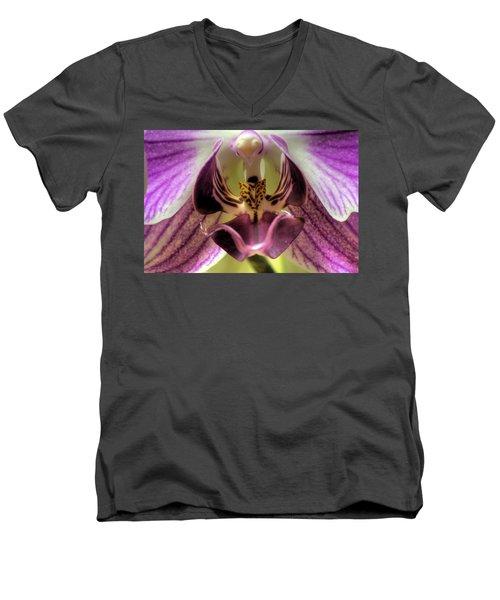 Macro Orchid Men's V-Neck T-Shirt