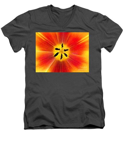 Macro Tulip Men's V-Neck T-Shirt