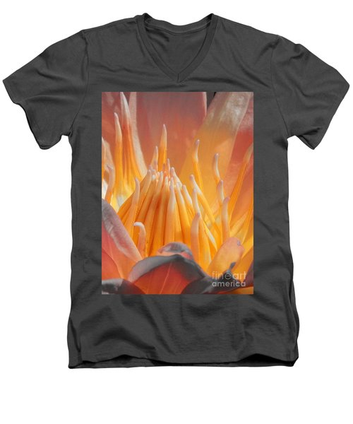 Macro Water Lily Men's V-Neck T-Shirt by Chad and Stacey Hall