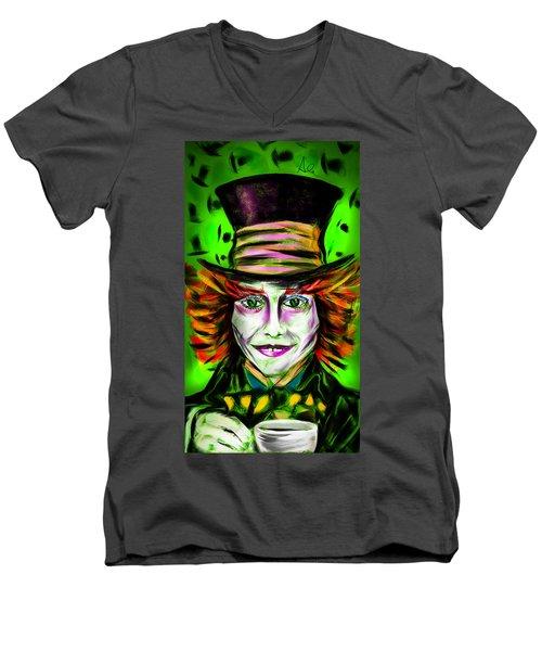 Mad Hatter Men's V-Neck T-Shirt