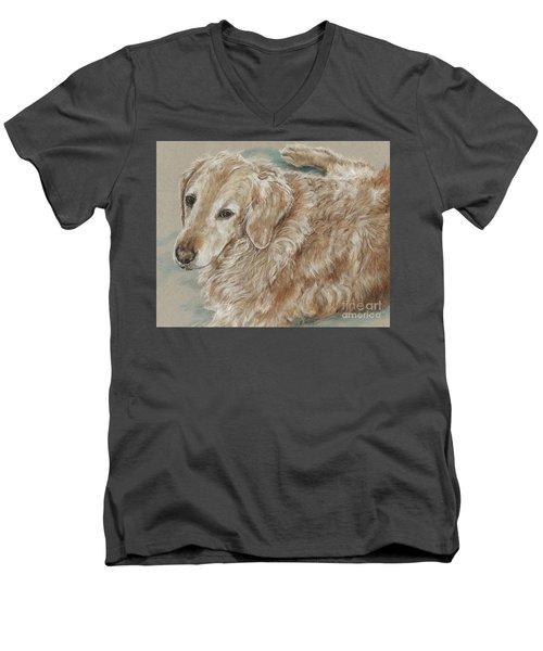 Maddie  Men's V-Neck T-Shirt by Meagan  Visser