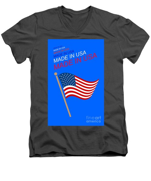 Made In Usa Men's V-Neck T-Shirt