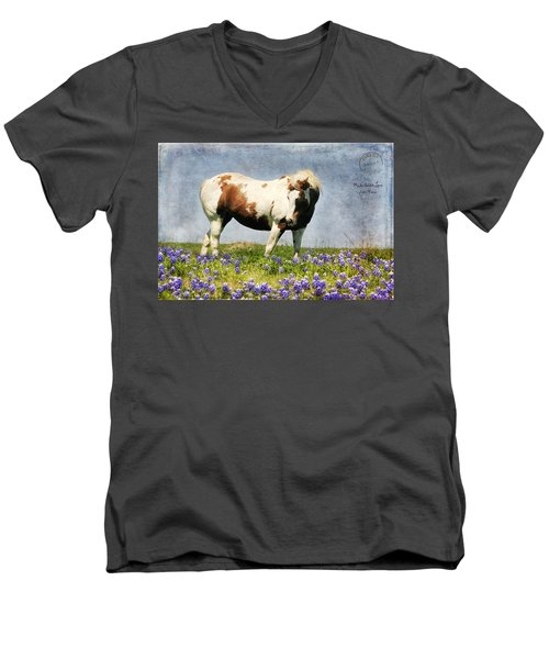 Made With Love From Texas Men's V-Neck T-Shirt by Joan Bertucci