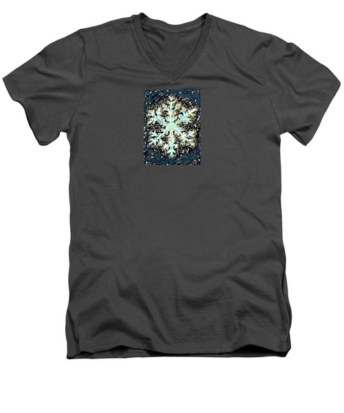 Madeline Snowflake Men's V-Neck T-Shirt
