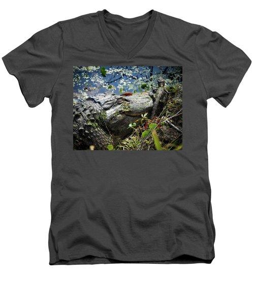 Madonna And Child, No. 3 Men's V-Neck T-Shirt