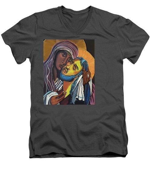 Madonna Of The Streets Men's V-Neck T-Shirt
