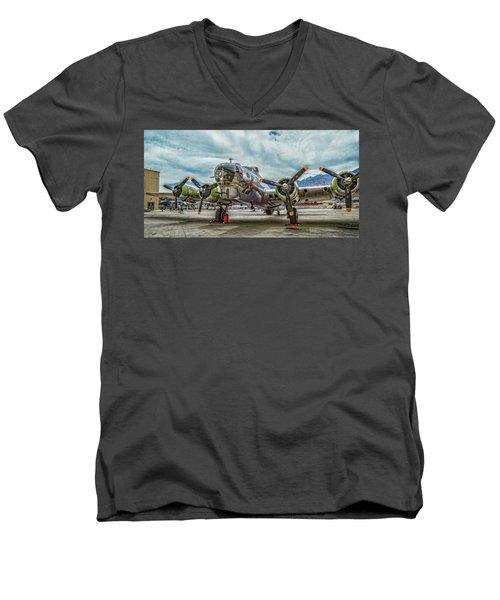 Madras Maiden B-17 Bomber Men's V-Neck T-Shirt