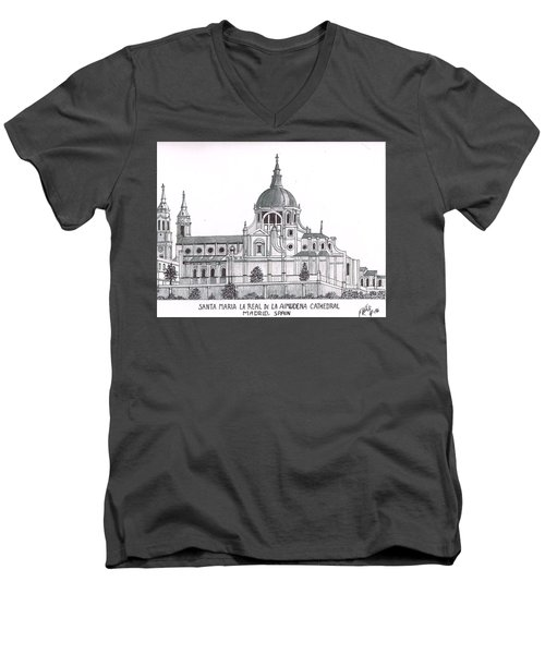 Madrid Cathedral Aimudena Men's V-Neck T-Shirt