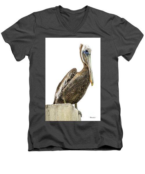 Majestic Gulf Shores Pelican 1071a Men's V-Neck T-Shirt