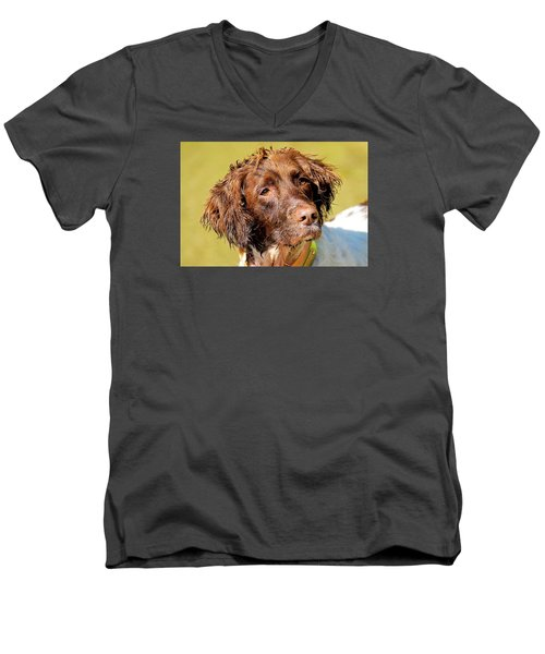 Maggie Head Photo Art Men's V-Neck T-Shirt by Constantine Gregory